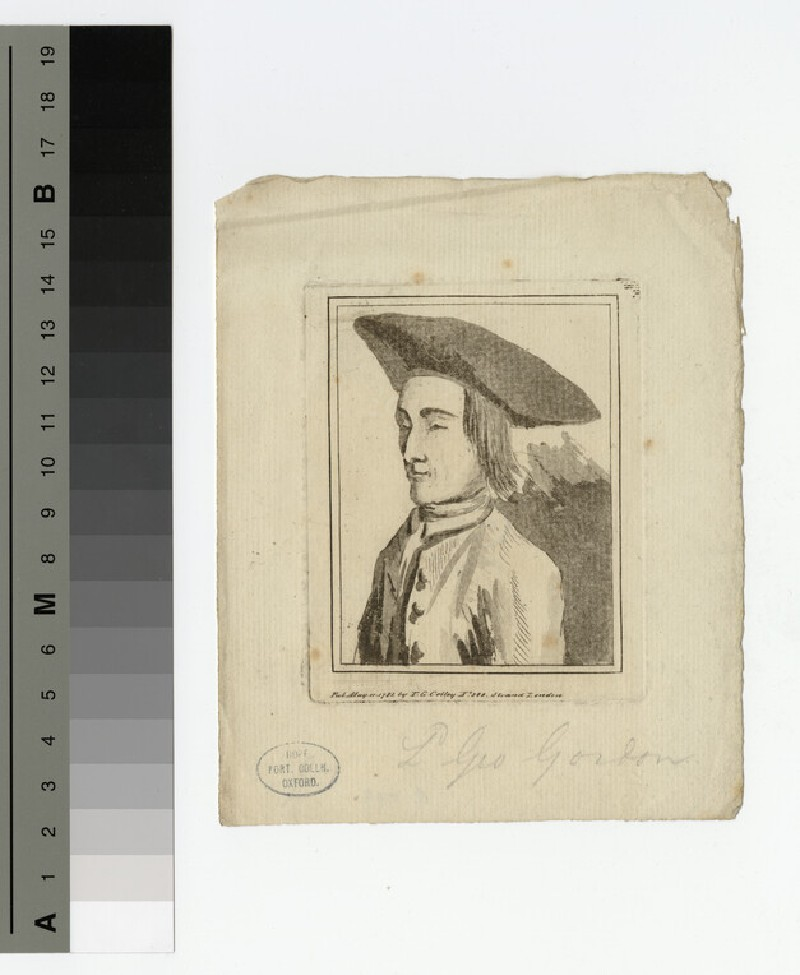 Portrait of Lord G. Gordon