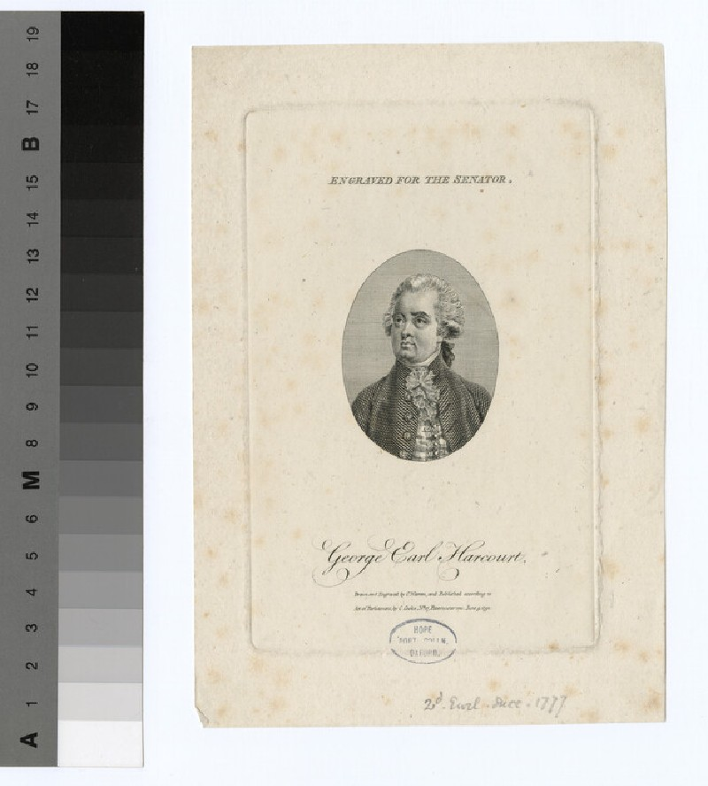 Portrait of George Harcourt, 2nd Earl Harcourt
