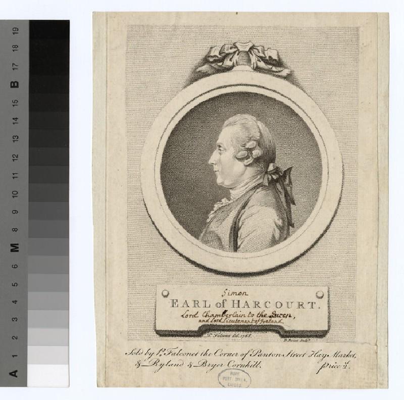 Portrait of Simon Harcourt, 1st Earl Harcourt