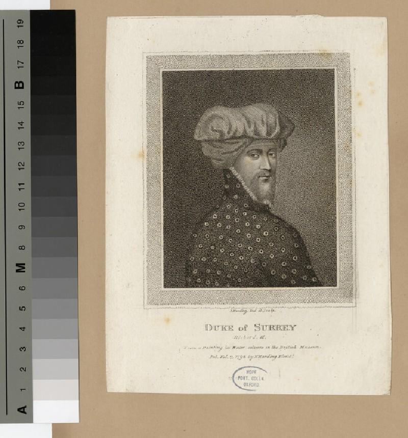 Portrait of Duke Surrey (WAHP16206)