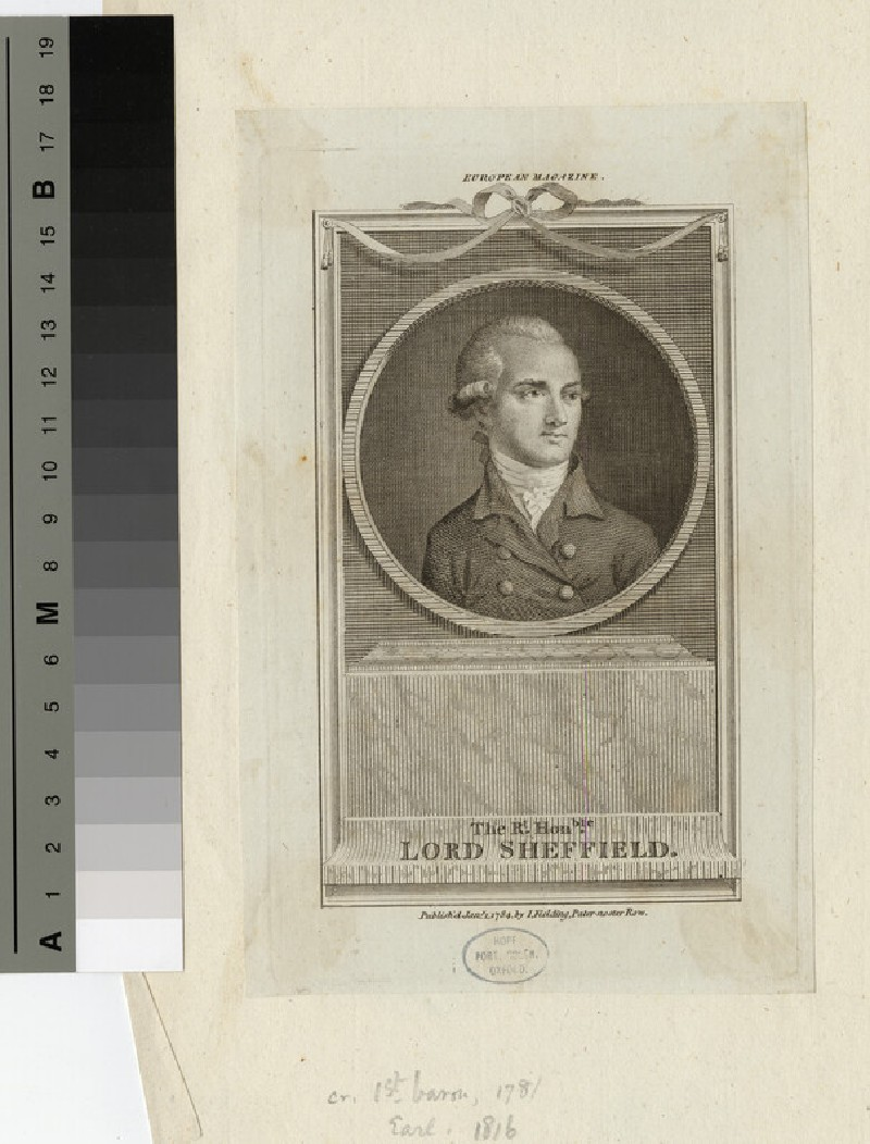 Portrait of Lord Sheffield (WAHP16215)