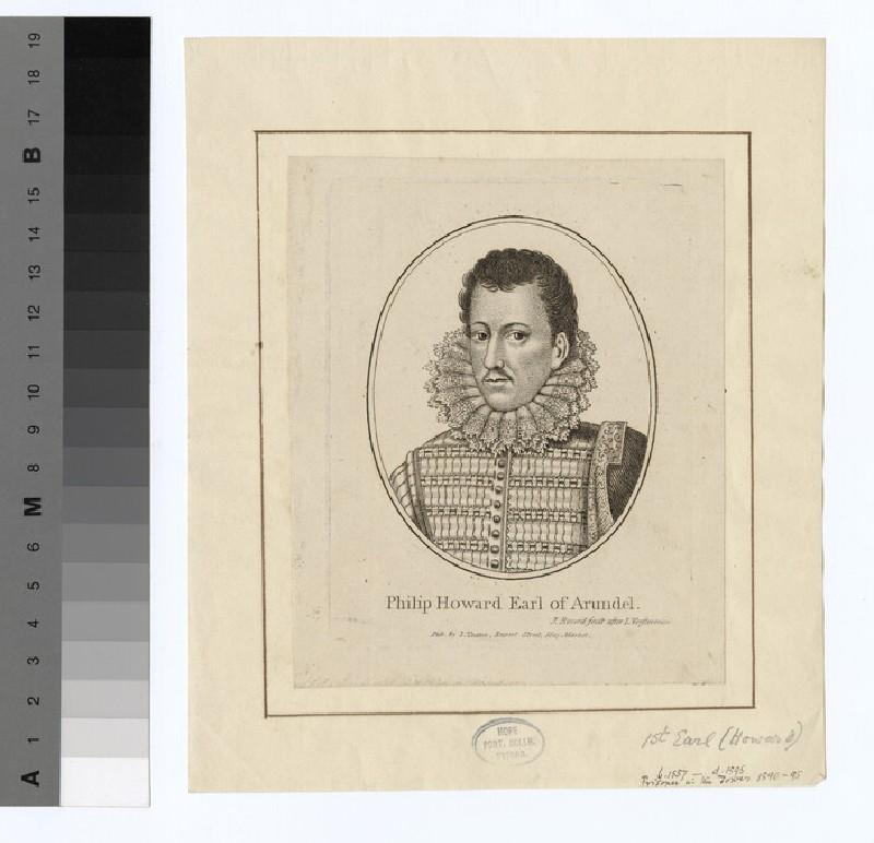 Portrait of Philip Howard, earl of Arundel (WAHP16298)