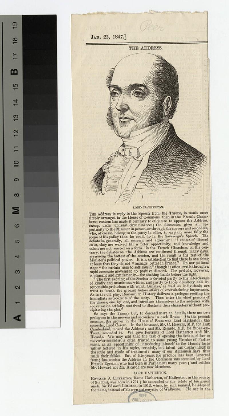 Portrait of Hatherton