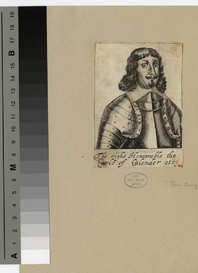 Portrait of James Livingston, 1st Earl of Callendar (WAHP16597)