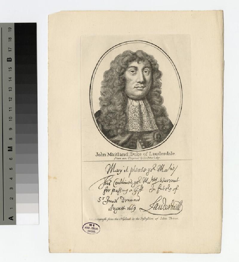 Portrait of John Maitland, 1st Duke of Lauderdale