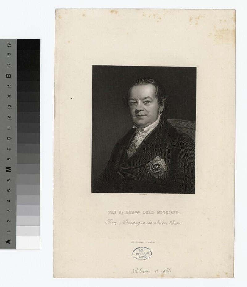 Portrait of Charles Metcalfe, 1st Baron Metcalfe