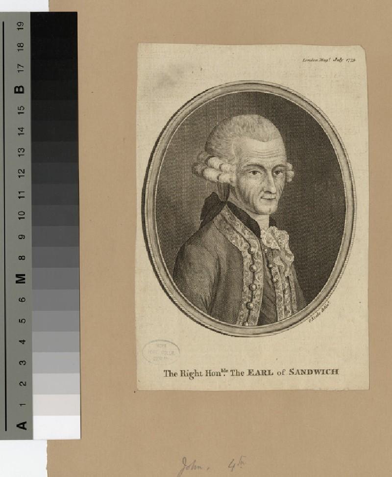 Portrait of John Montagu, 4th Earl of Sandwich