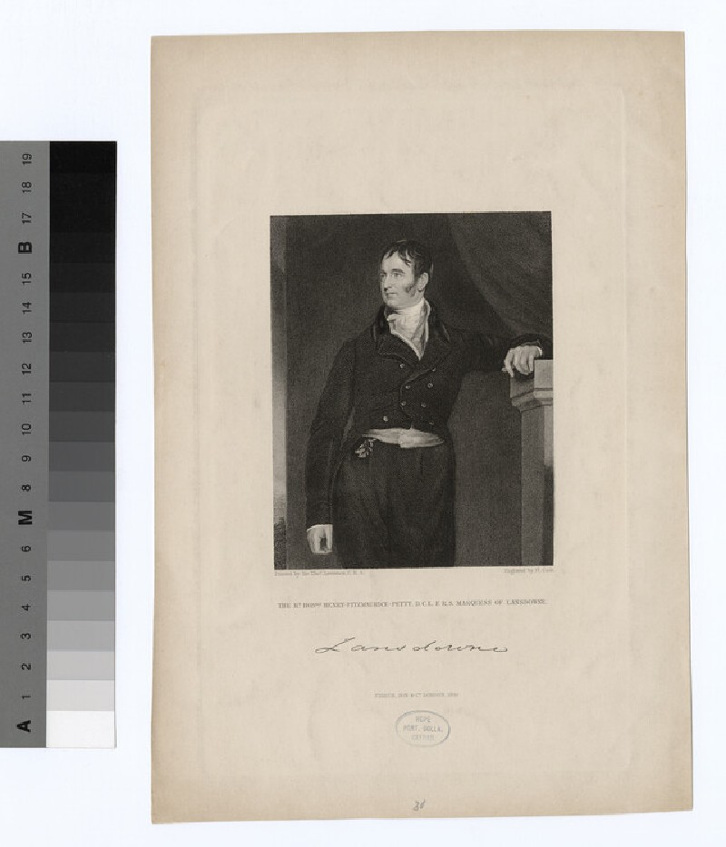 Portrait of Henry Petty-Fitzmaurice, 3rd Marquess of Lansdowne