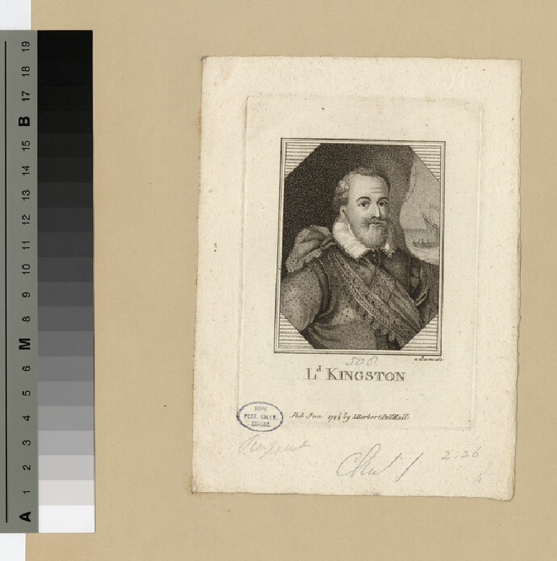 Portrait of Lord Kingston (WAHP16972)