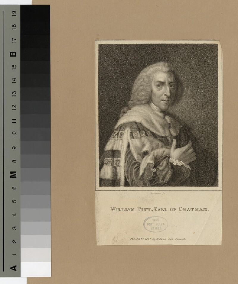 Portrait of William Pitt, 1st Earl of Chatham (WAHP16996)