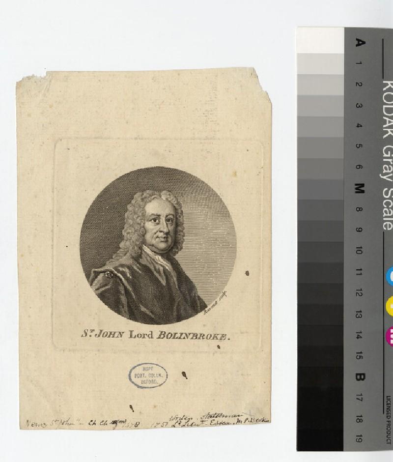 Portrait of Henry St John, 1st Viscount Bolingbroke