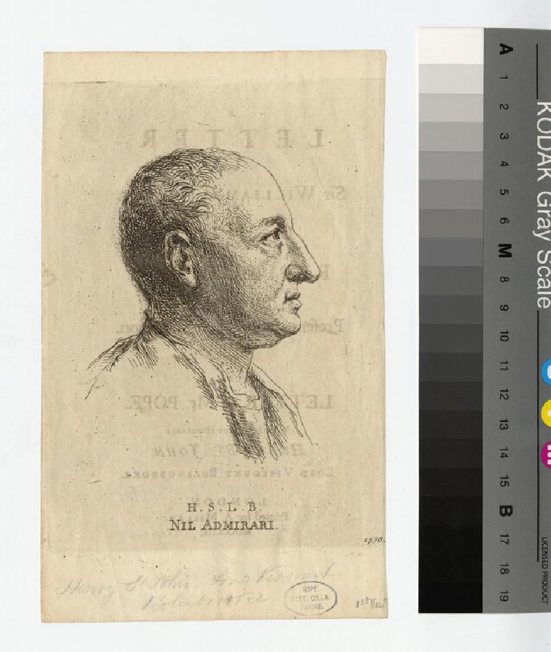 Portrait of Henry St John, 1st Viscount Bolingbroke (WAHP17255)