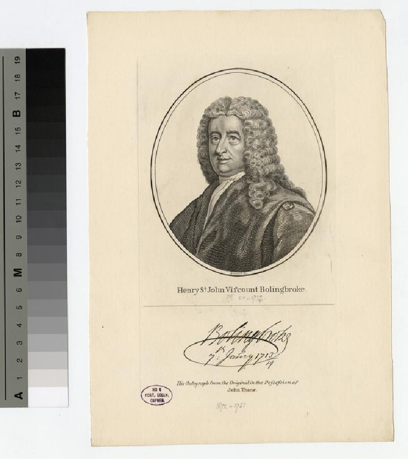 Portrait of Henry St John, 1st Viscount Bolingbroke (WAHP17258)