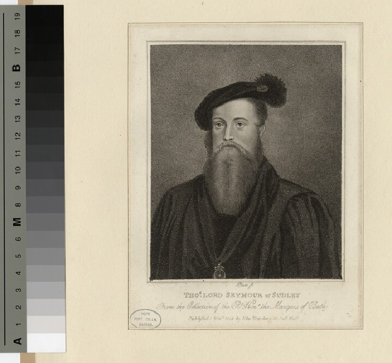 Portrait of Thomas Lord Seymour of Sudley