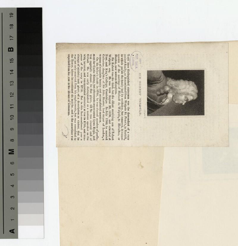 Walpole, Sir R (WAHP17391.2)