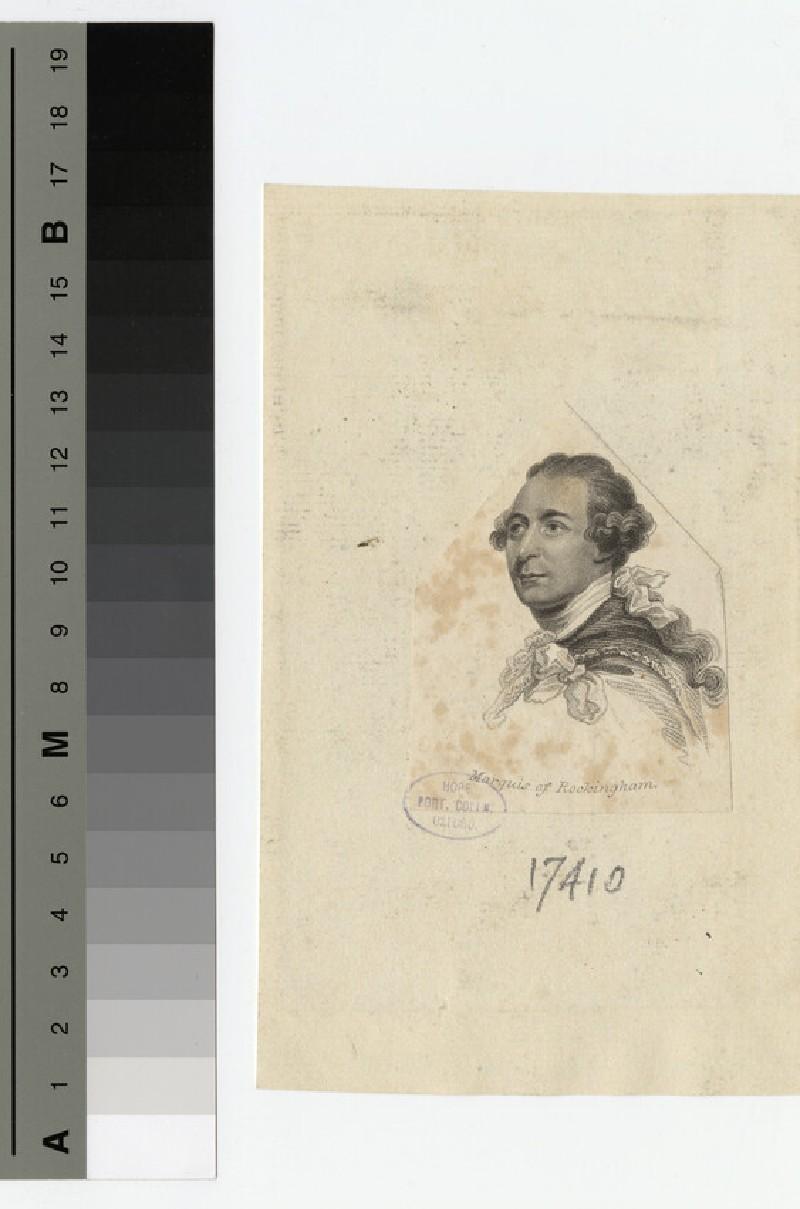 Portrait of Marquis Rockingham