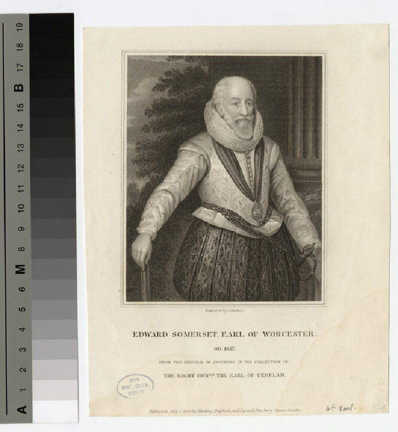 Portrait of Edward Somerset, 4th Earl of Worcester (WAHP17643)