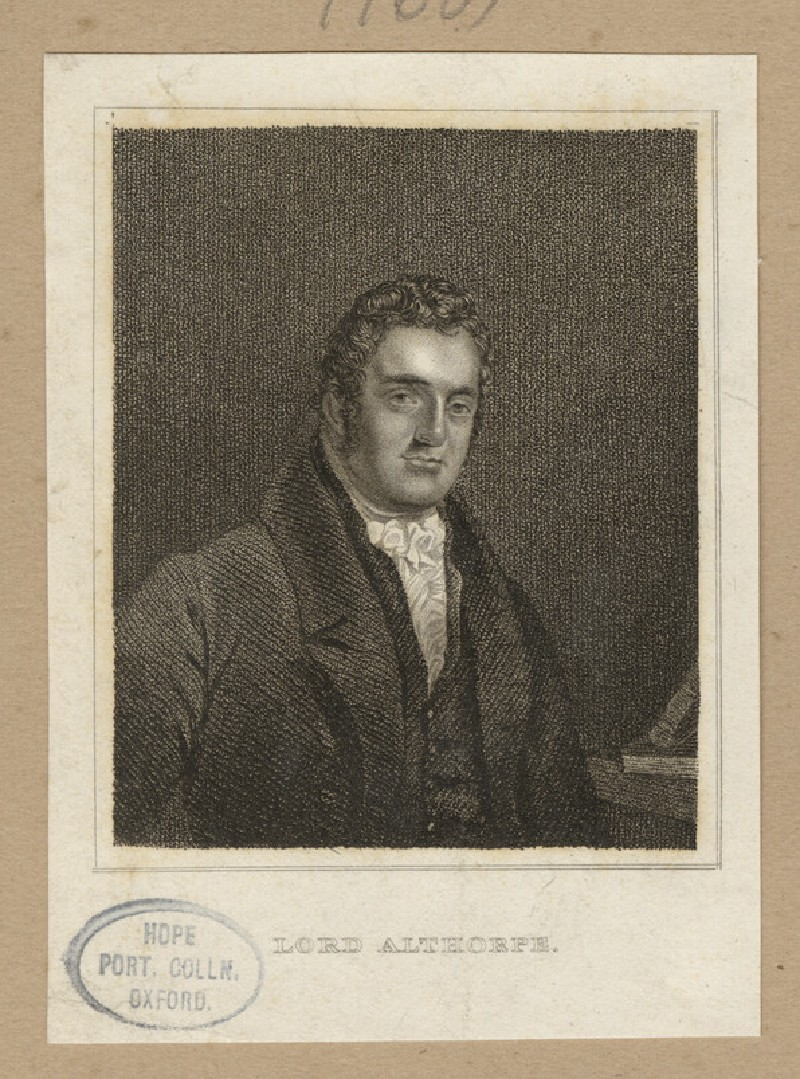 Portrait of Lord Althorpe