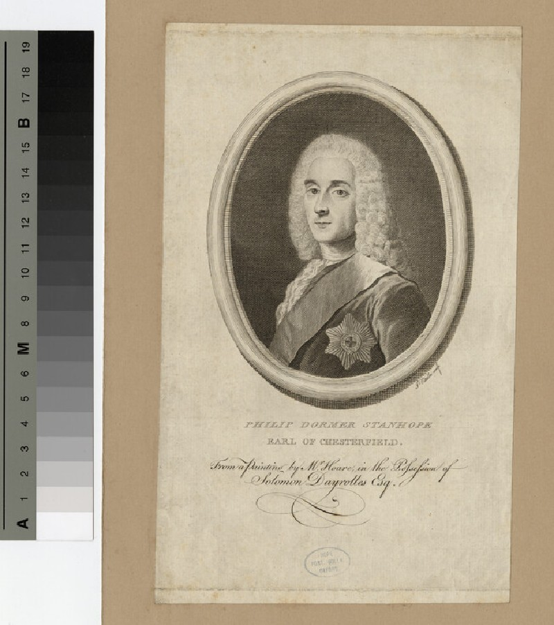 Portrait of Philip Stanhope, 4th Earl of Chesterfield