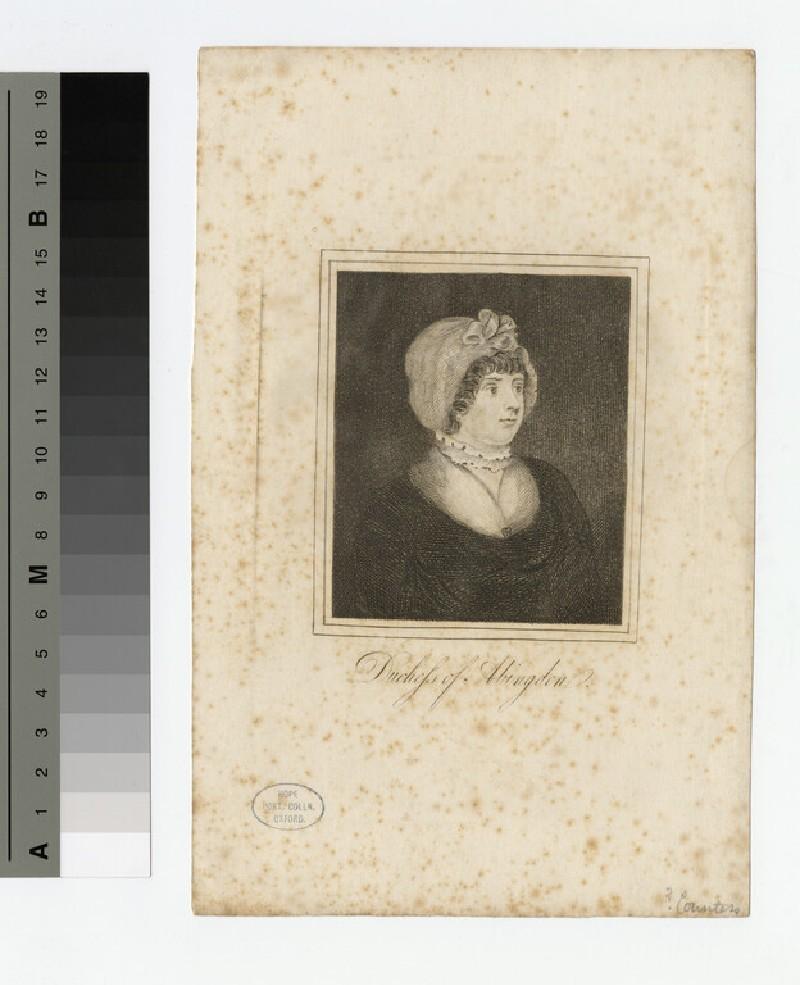 Portrait of Duchess Abingon (WAHP18134)