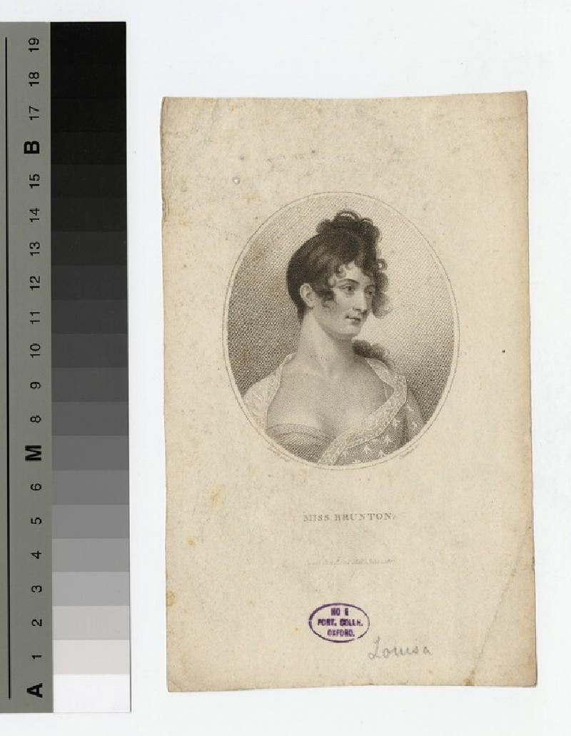 Portrait of Miss Brunton