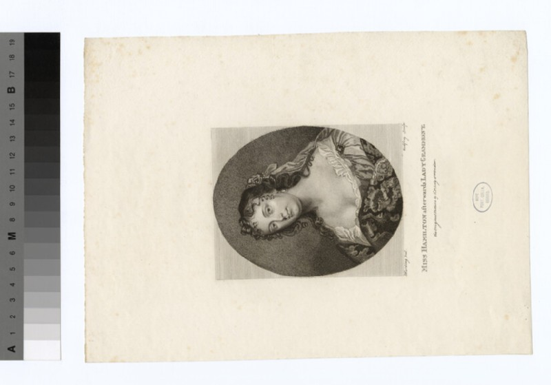 Portrait of Miss Hamilton, later the Countess de Gramont (WAHP18488.1)