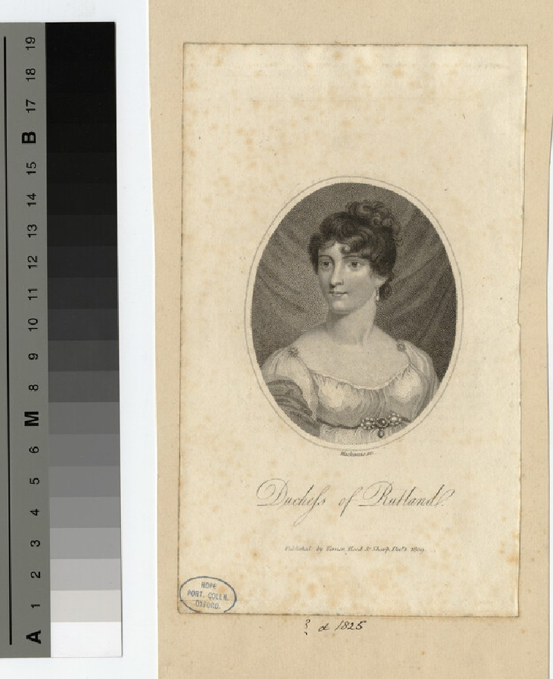 Portrait of Duchess Rutland (WAHP18749)