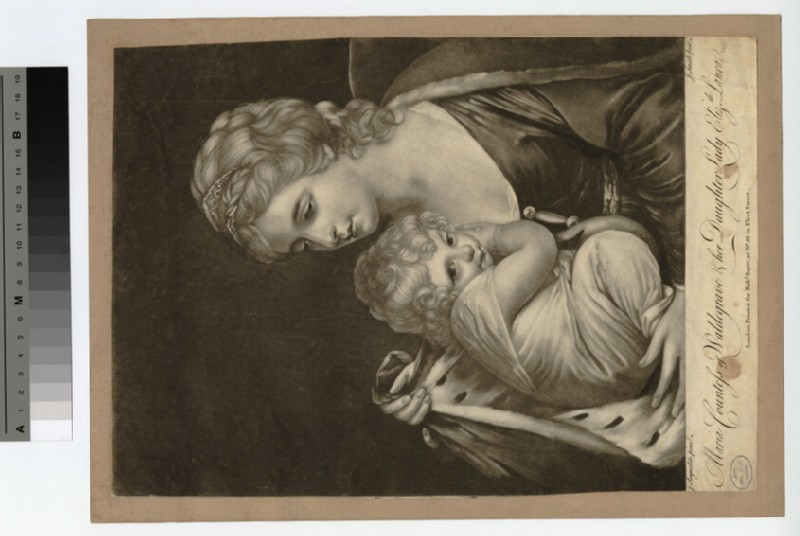 Portrait of Countess Waldegrave, and daughter (WAHP18758)