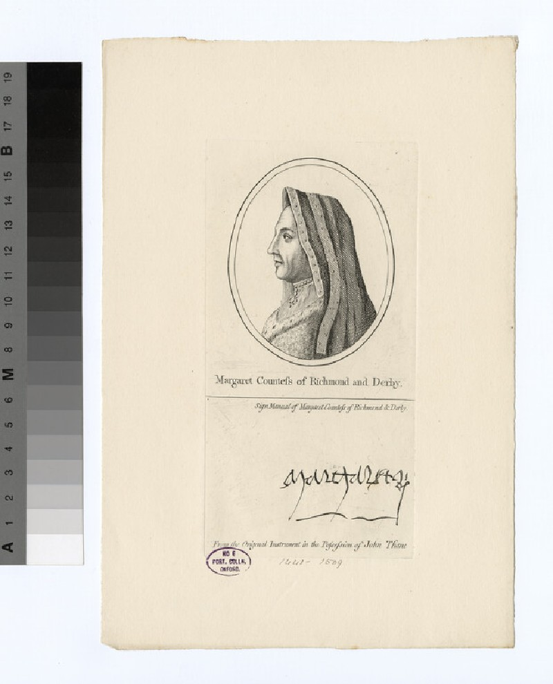 Portrait of Margaret Countess Richmond (WAHP19016)