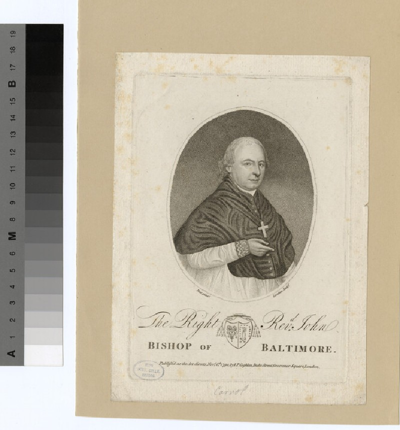 Portrait of bishop J. Carrol