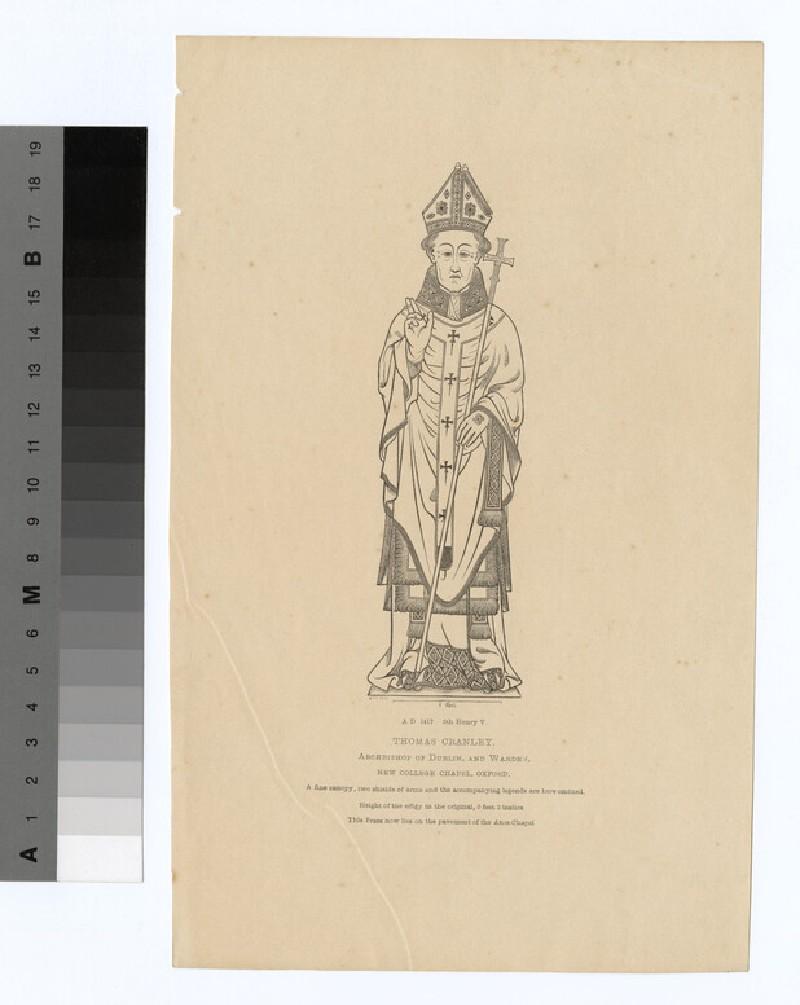 Portrait of Archbishop Cranley (WAHP19604)