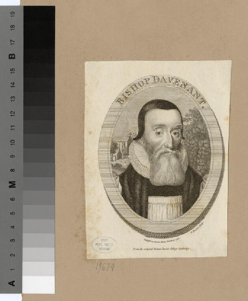 Portrait of Bishop Davenant (WAHP19674)