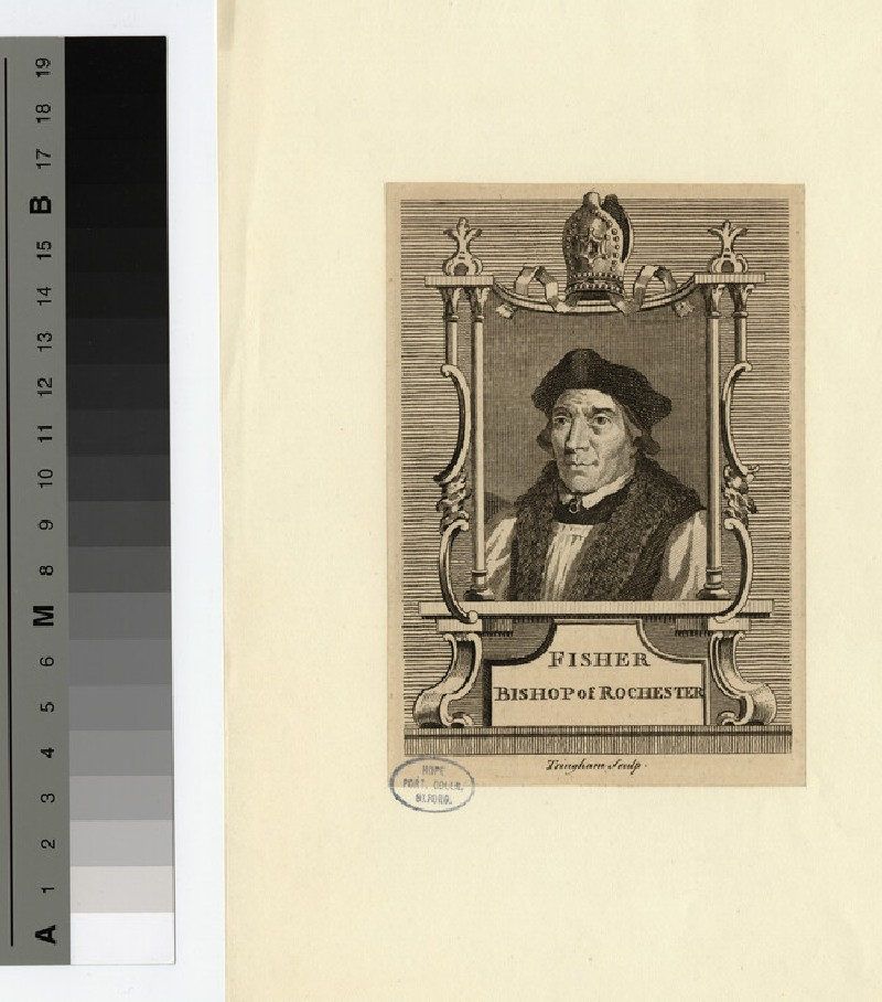 Portrait of John Fisher, Bishop of Rochester (WAHP19717)