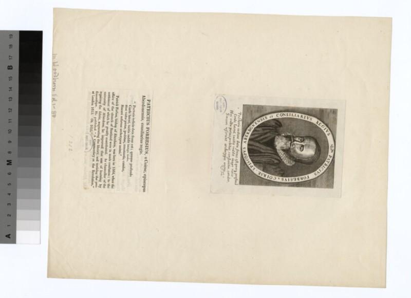 Portrait of Bishop P. Forbes (WAHP19751)