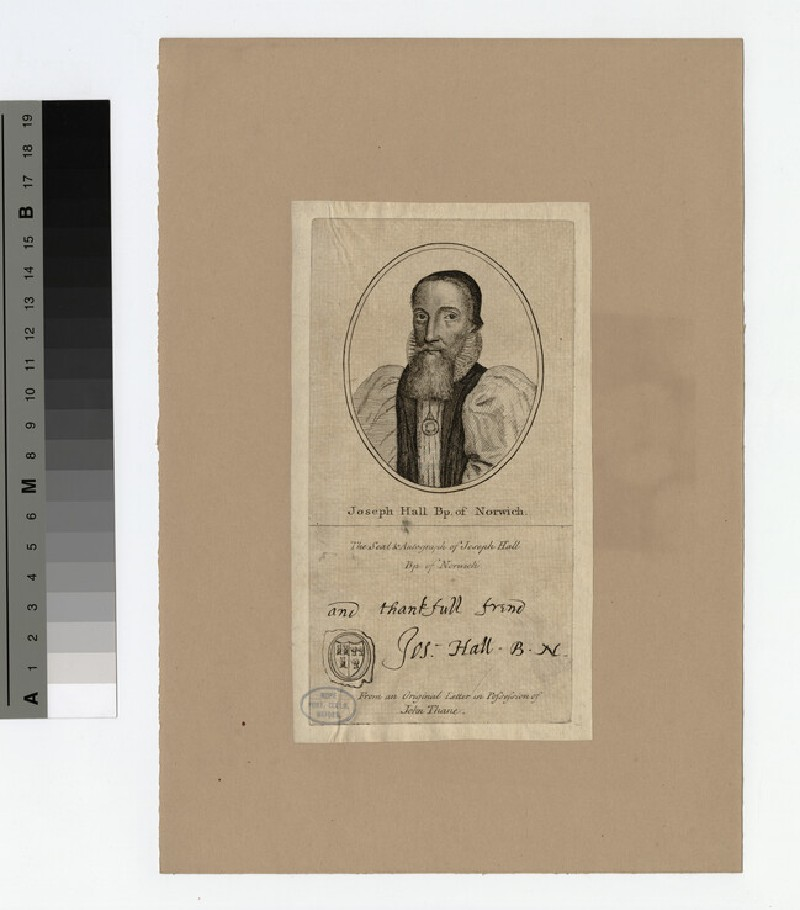 Portrait of Bishop Hall (WAHP19827)