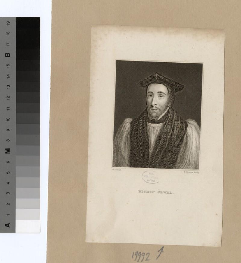 Portrait of Bishop Jewel (WAHP19992)