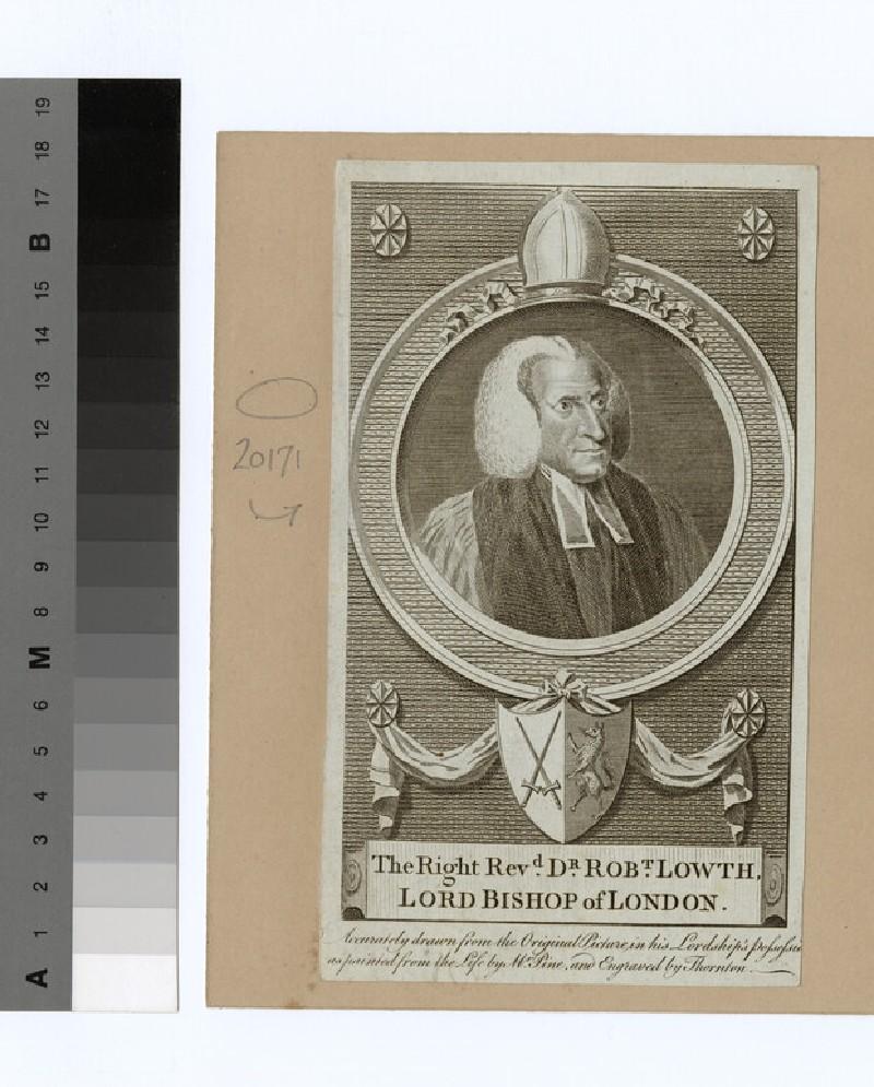 Portrait of Bishop R. Lowth (WAHP20171)