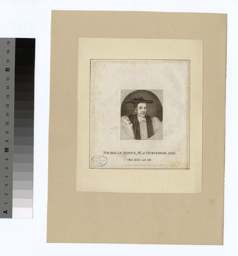 Portrait of Bishop N. Monck (WAHP20246)