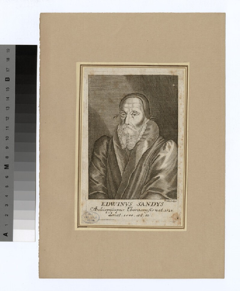 Portrait of Archbishop Sandys (WAHP20513)