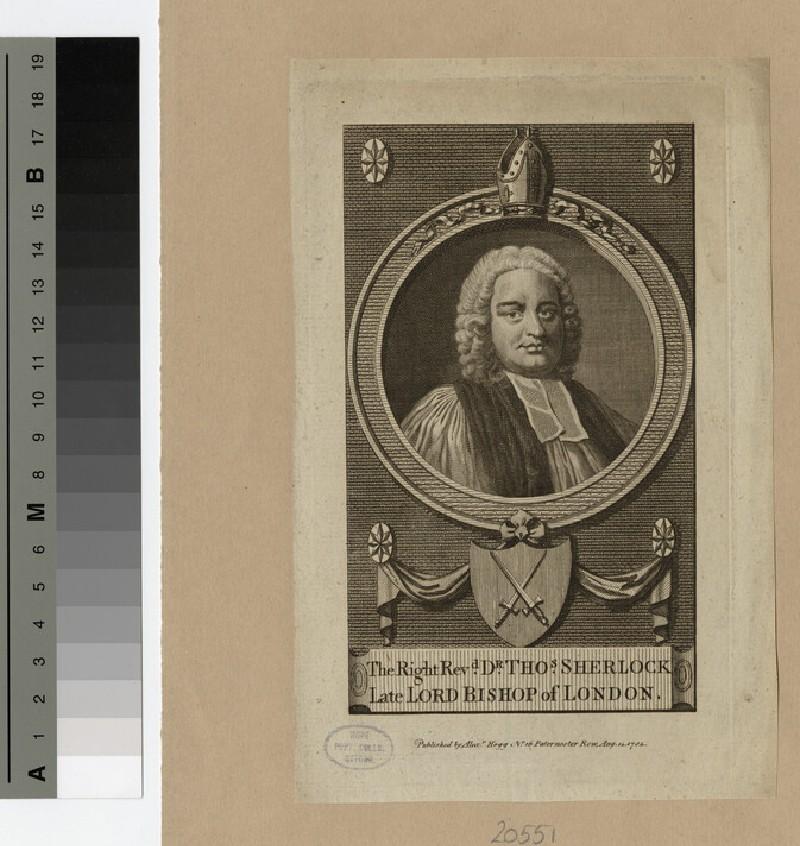 Portrait of Bishop T. Sherlock (WAHP20551)