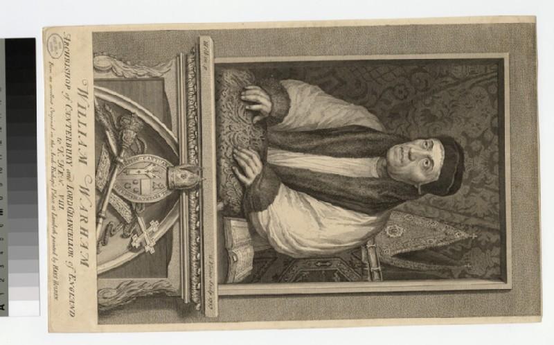 Portrait of Archbishop W. Warham (WAHP20833)