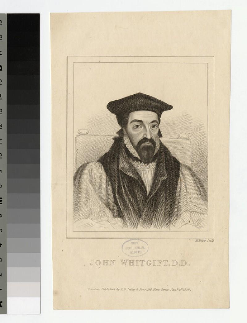 Portrait of Archbishop J. Whitgift
