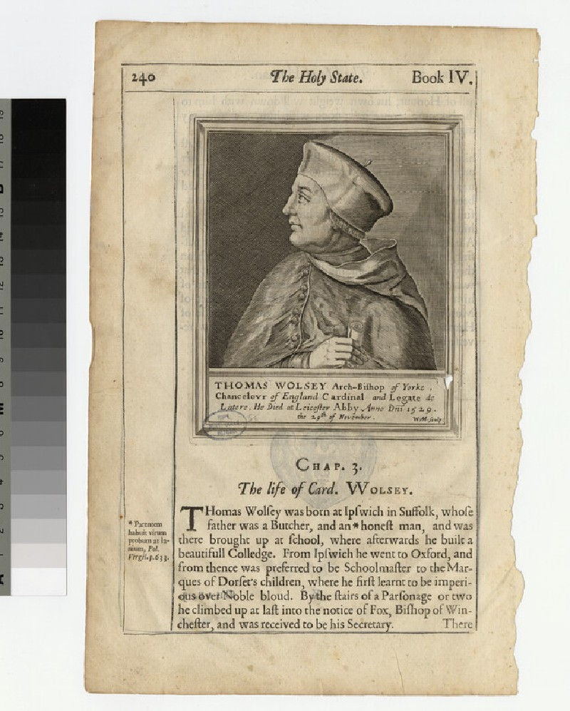 Portrait of Thomas Wolsey (WAHP21025.4)