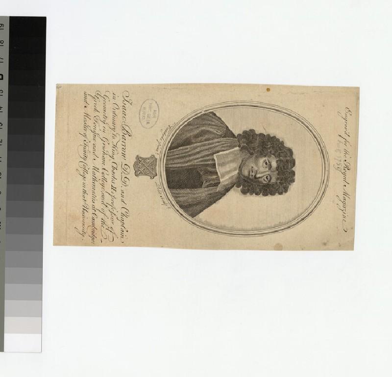 Portrait of Revd Isaac Barrow