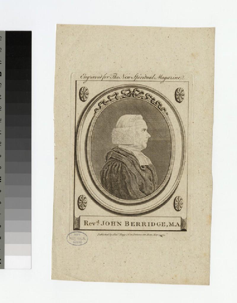Portrait of Rev.J. Berridge