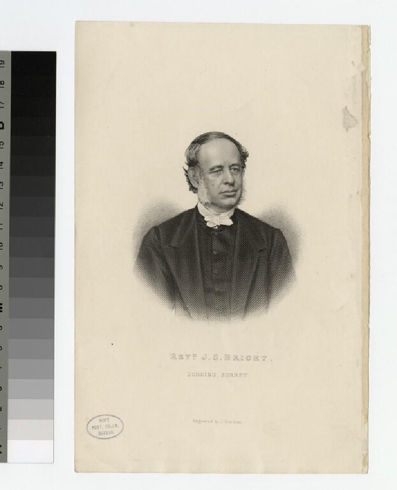 Portrait of J. S. Bright (WAHP21602)
