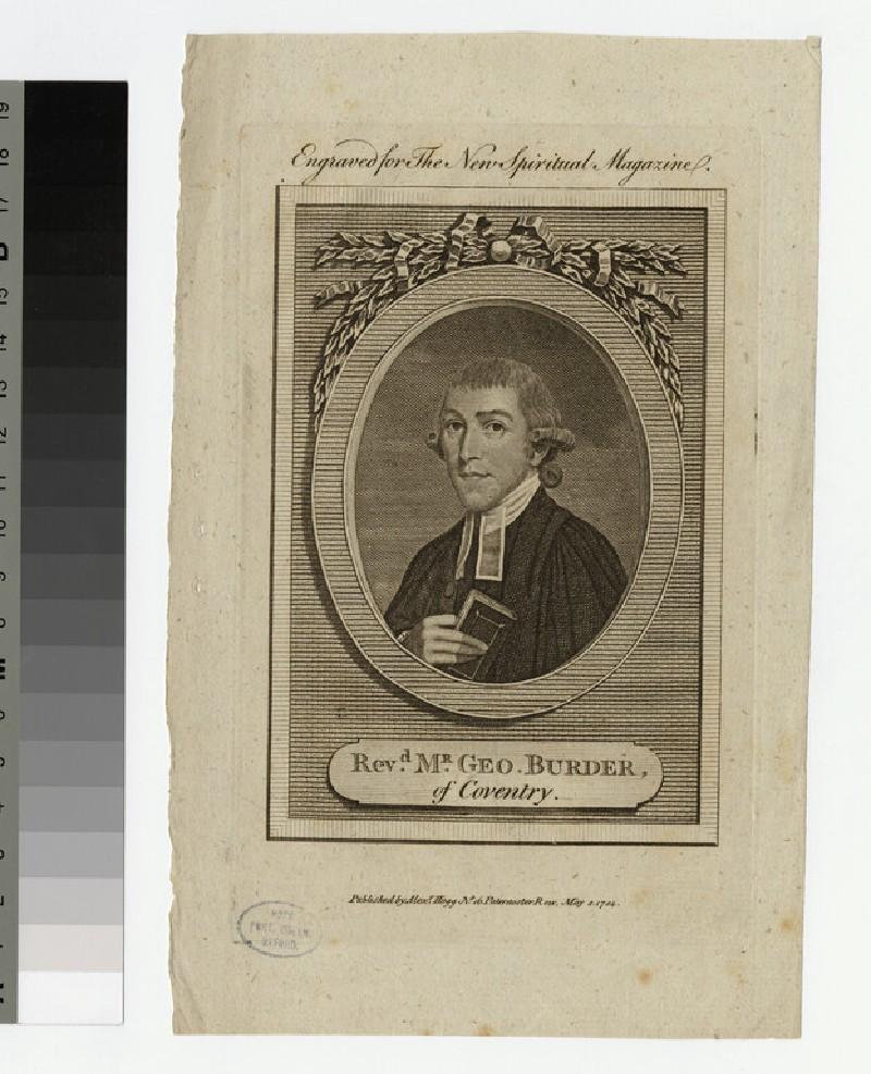 Portrait of G. Burder (WAHP21794)