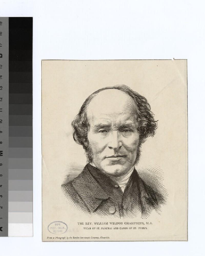 Portrait of Revd W. Champneys