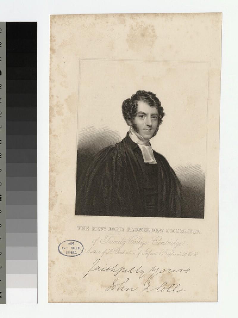 Portrait of Revd J. F. Colls (WAHP22149)