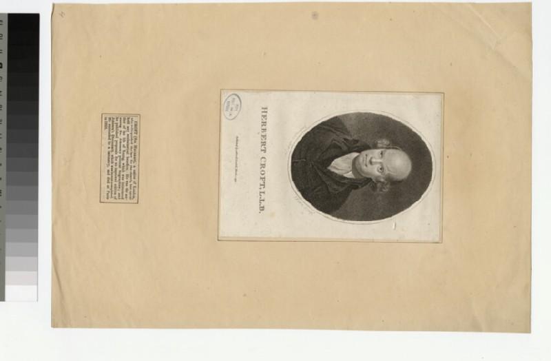 Portrait of Revd Sir H. Croft (WAHP22298)
